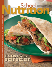 October 2013 issue of School Nutrition magazine