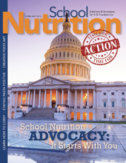 February 2015 issue of School Nutrition magazine