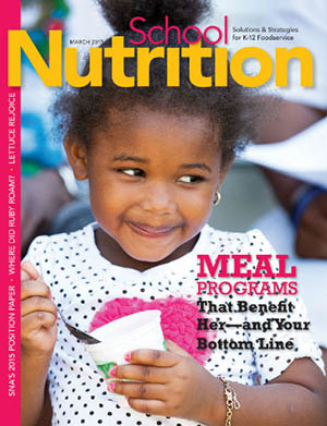 March 2015 issue of School Nutrition magazine