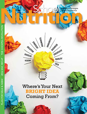 April 2016 issue of School Nutrition magazine