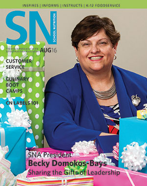 August 2016 issue of School Nutrition magazine