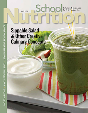 May 2016 issue of School Nutrition magazine