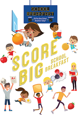 National School Breakfast Week 2021 - Score Big Logo