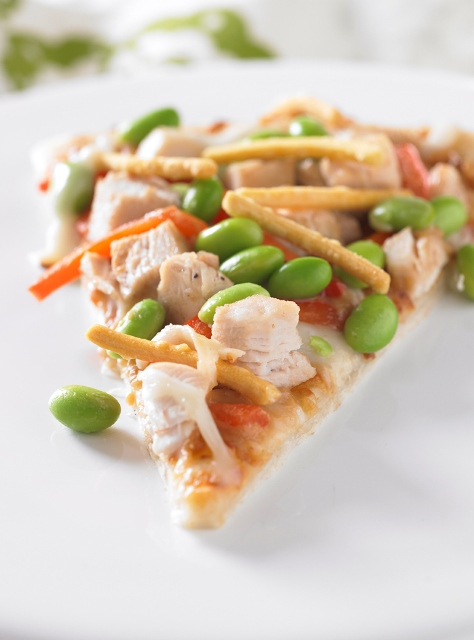 Asian Chicken Edamame Pizza--United Soybean Board