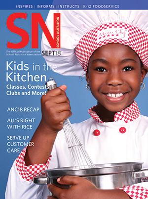 September 2018 issue of School Nutrition magazine