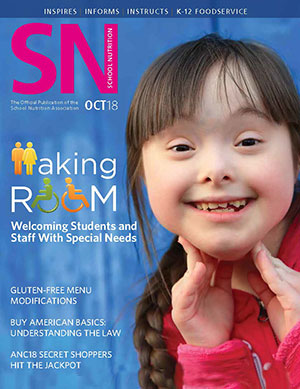 October 2018 issue of School Nutrition magazine