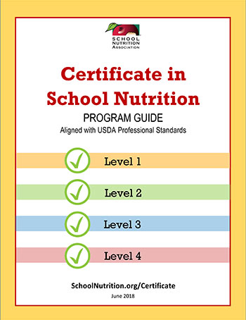 SNA Certificate in School Nutrition Program
