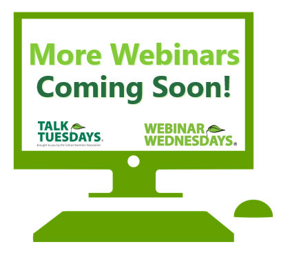 More SNA Webinars Coming Soon