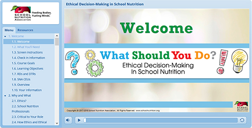 SNA's Ethics in School Nutrition