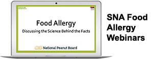 SNA Food Allergy Webinars