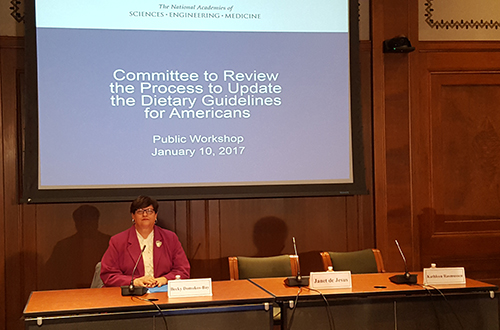 SNA President Becky Domokos-Bays Provided Input on Dietary Guidelines for Americans
