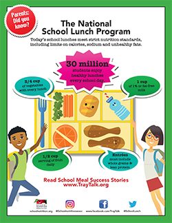SNA's National School Lunch Program Flyer