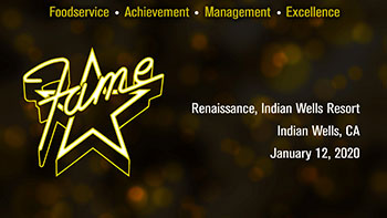2020 FAME (Foodservice Achievement Management Excellence) Awards