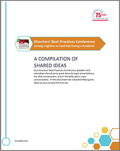 Directors' Best Practices Conference Shared Ideas