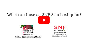 What can I use an SNF scholarsip for?