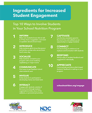 SNA Tools & Templates to Engage Students in School Meals