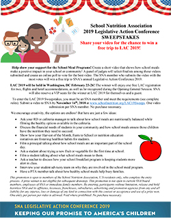SNA's 2019 Legislative Action Conference (LAC) Sweepstakes