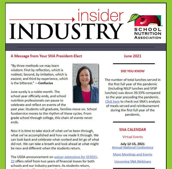 Read SNA's Industry Insider Newsletter