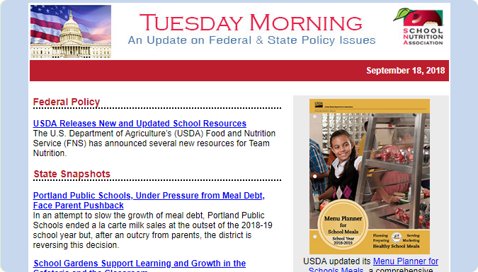 Read SNA's Tuesday Morning newsletter